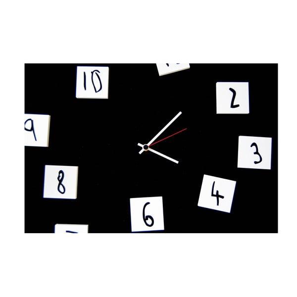 Nástěnné hodiny dESIGNoBJECT.it Changing Clock Black,50x50cm