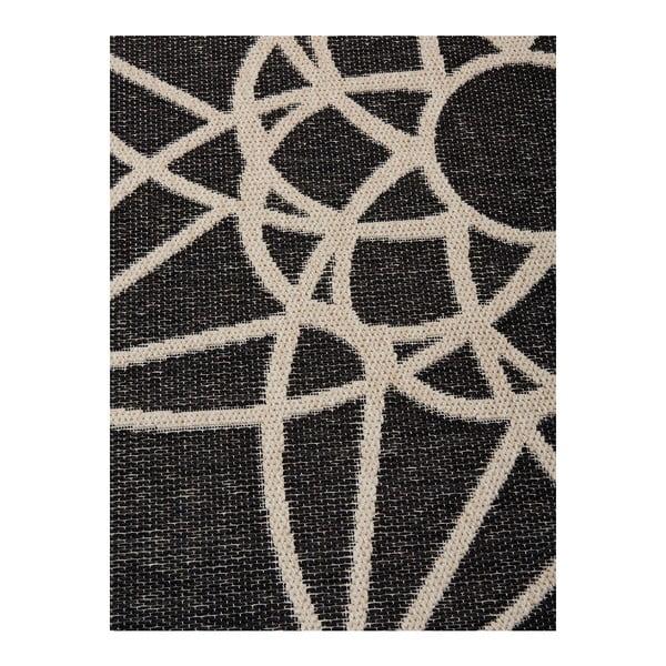 Černý vysoce odolný koberec vhodný do exteriéru Webtappeti Tondo, ⌀ 194 cm