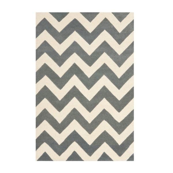 Vlněný koberec Crosby Middle Grey, 121x182 cm