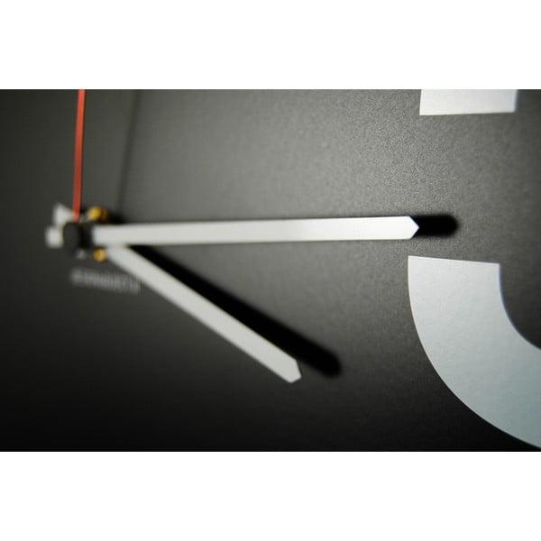 Nástěnné hodiny dESIGNoBJECT.it Number Line Black,50x50cm