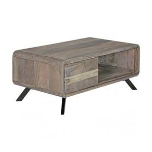 Šedý konferenční stolek z masivního akáciového dřeva Skyport BOHA