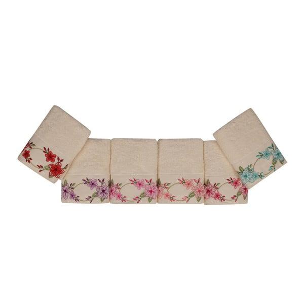 Sada 6 ručníků z čisté bavlny Love, 50 x 90 cm