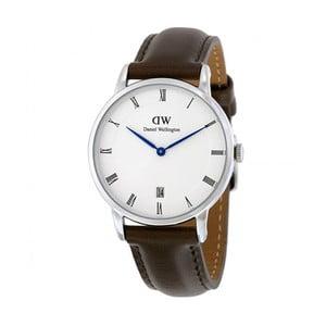Dámské hodinky s hnědým páskem Daniel Wellington Bristol Silver, ⌀34mm