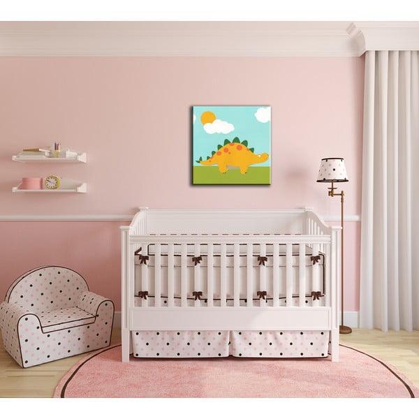 Dětský obraz Dino Playtime 30x30 cm