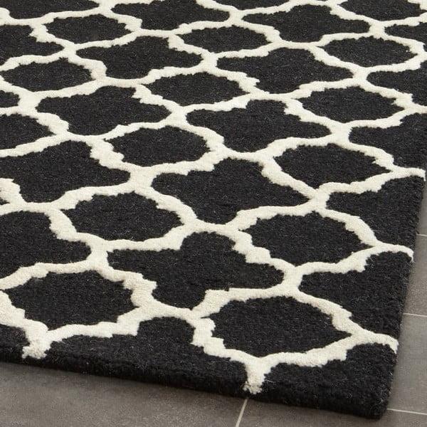 Vlněný koberec Safavieh Bessa, 152x243 cm, černý