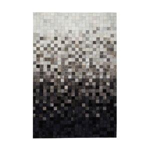 Koberec z pravé kůže Sao Paulo Black, 140x200cm