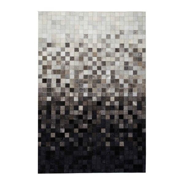 Koberec z pravé kůže Sao Paulo Black, 120x180 cm