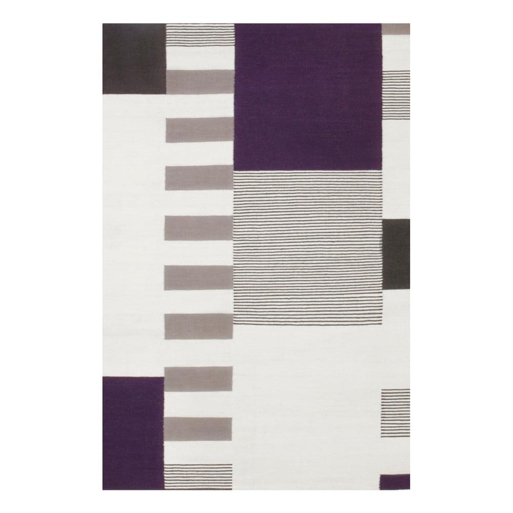 Ručně tkaný vlněný koberec Linie Design Graphito, 170 x 240 cm