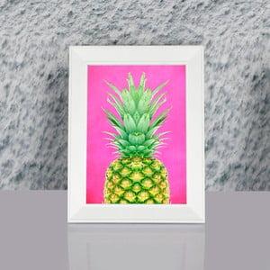 Zarámovaný obraz Dekorjinal Pouff Pink Peanapple, 23x17cm