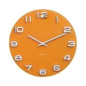 Oranžové hodiny Karlsson Vintage, Ø 35 cm