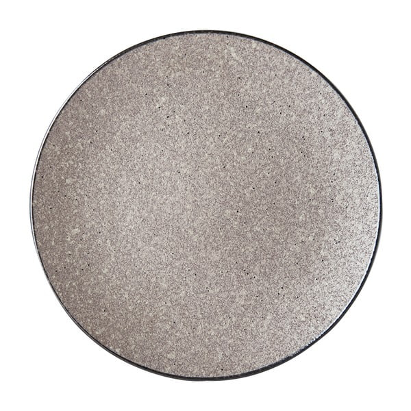 Beżowy talerz ceramiczny MIJ Earth, ø 29 cm