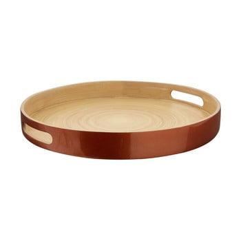 Tavă din bambus Premier Housewares Kyoto, ⌀ 35 cm, arămiu imagine