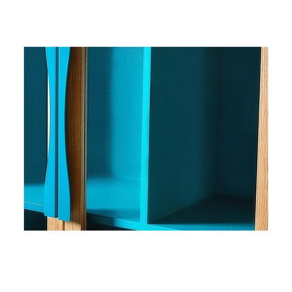 Bibliotecă / vitrină Woodman Avon, albastru