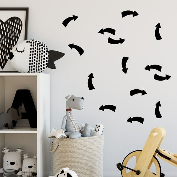 Point fekete öntapadós falmatrica szett - North Carolina Scandinavian Home Decors