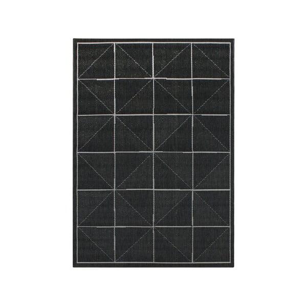 Koberec vhodný i do exteriéru Patio Charcoal Check, 80x150 cm