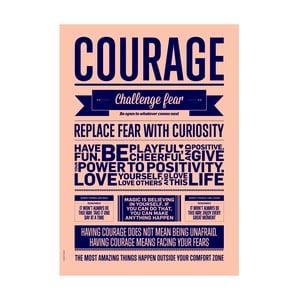 Autorský plakát Courage, A3
