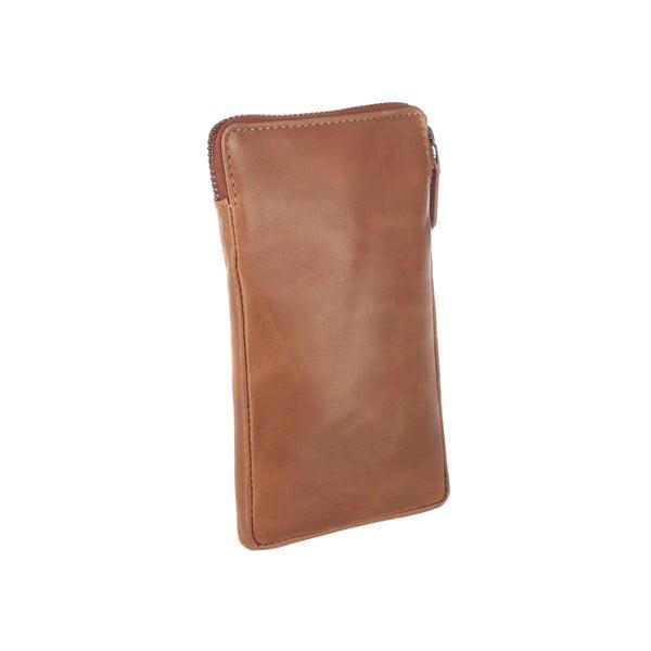 Multifunkční kožené pouzdro Shield Cognac