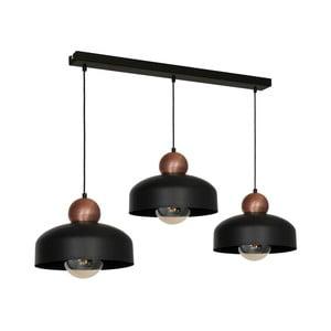 Černé závěsné svítidlo Harald Trio