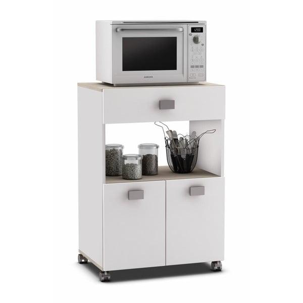 Bílá kuchyňská skříňka na kolečkách13Casa Romarin