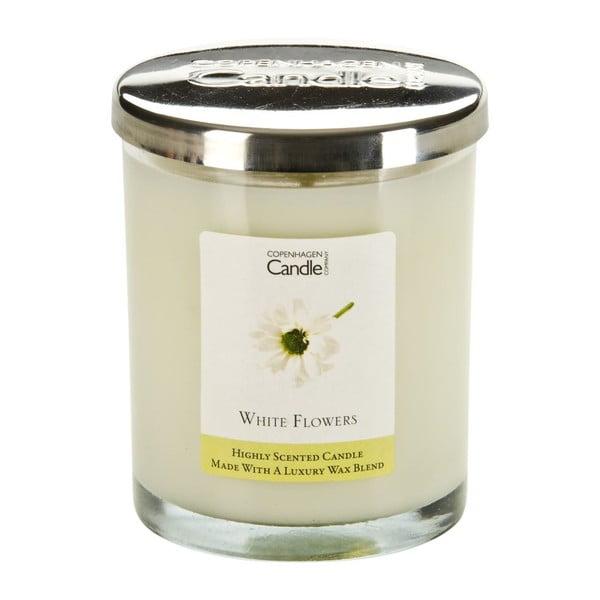 Aroma svíčka White Flowers, doba hoření 40 hodin