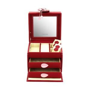 Šperkovnice Amira Red, 14,5x13,5x12 cm