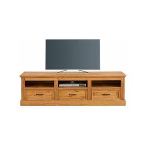 Hnědý TV stolek z masivního borovicového dřeva Støraa Suzie