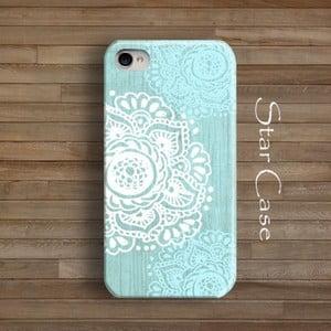Obal na iPhone 4/4S Floral Blue