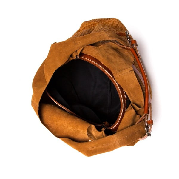 Kožená kabelka Tote 875 Cognac