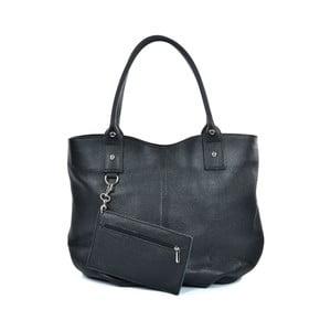 Černá kožená kabelka Mangotti Bags Adalina