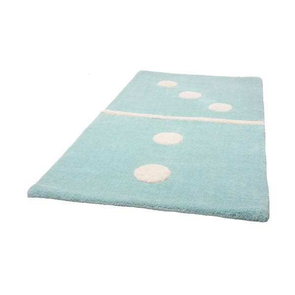 Covor albastru pentru copii Domino, 60x120 cm