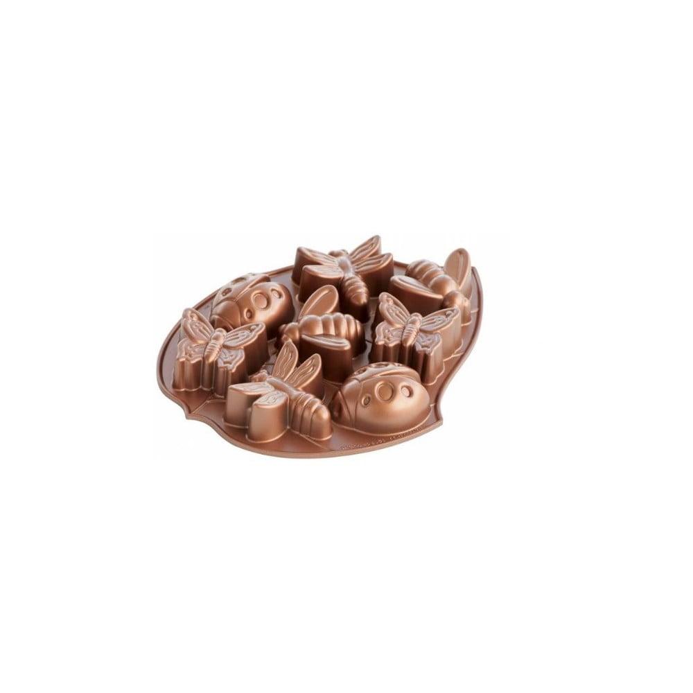 Forma na 8 mini bábovek v měděné barvě Nordic Ware Bugs, 1,2 l