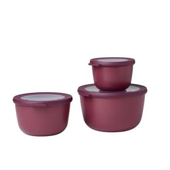 Set 3 cutii pentru gustări Rosti Mepal Cirqula Nordic, roșu închis imagine