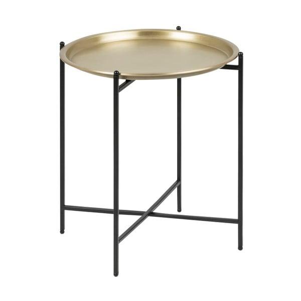 Odkladací stolík v zlatej farbe Actona Osborn