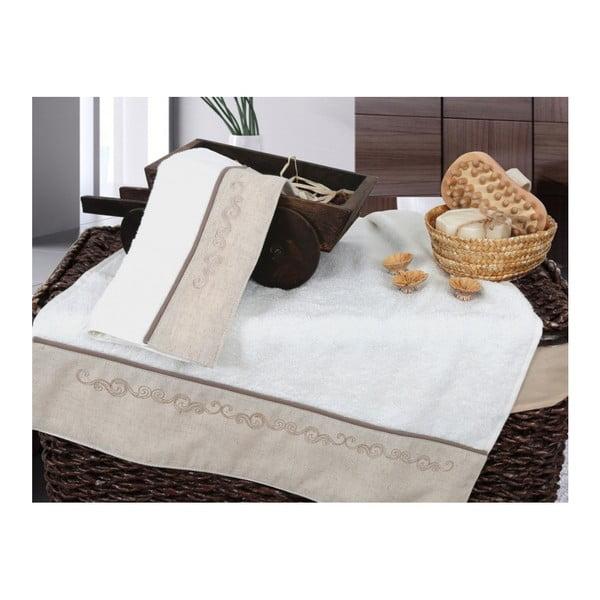 Set vanilkové osušky a ručníku Irya Home Spa, 30x50 cm a 50x90 cm