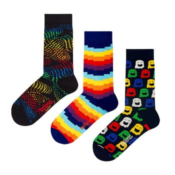 Set 3 perechi de șosete Ballonet Socks Ghost în cutie de cadou, mărime 36 - 40
