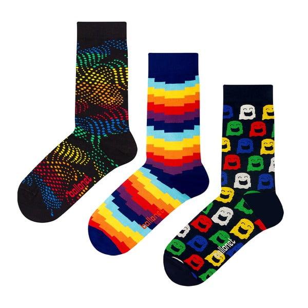 Zestaw 3 par skarpetek Ballonet Socks Ghost w opakowaniu podarunkowym, rozmiar 36 - 40