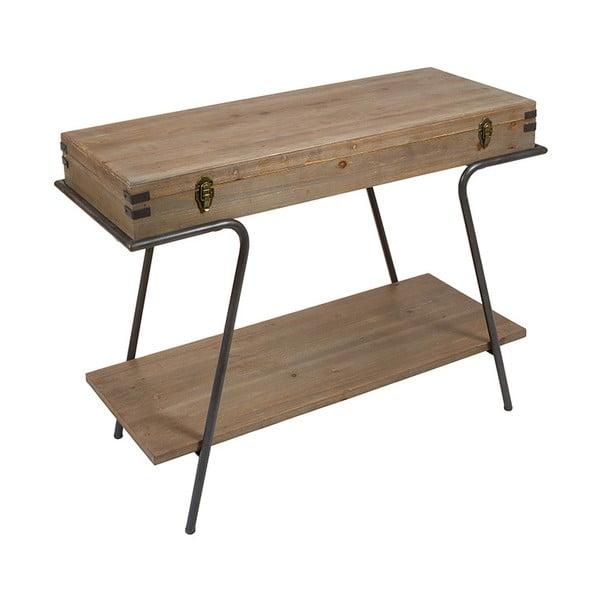 Masă tip consolă cu spațiu de depozitare și detalii din lemn de brad Santiago Pons Industry