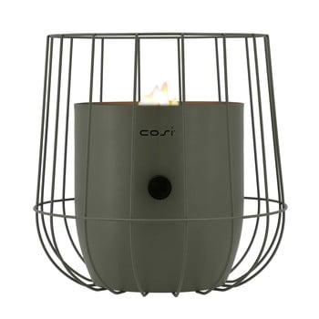 Lampă pe gaz Cosi Basket, înălțime 31 cm, verde olive