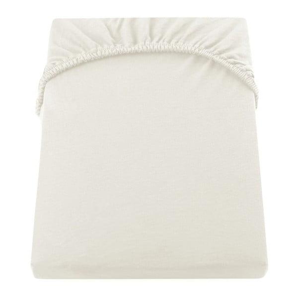 Cearșaf de pat cu elastic DecoKing Nephrite, 120–140 cm, crem deschis