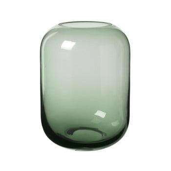 Vază din sticlă Blomus Bright, înălțime 21,5 cm, verde