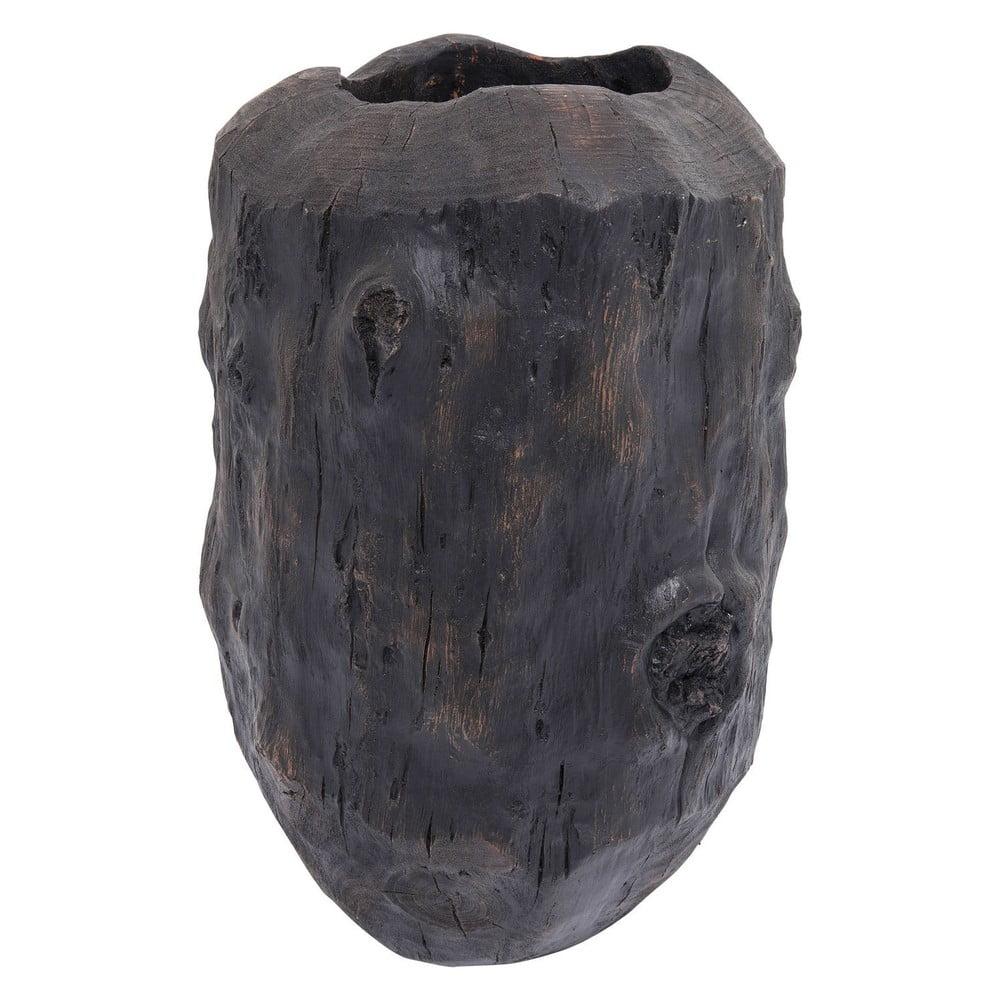Černá váza Kare Design Elemento, výška 56 cm