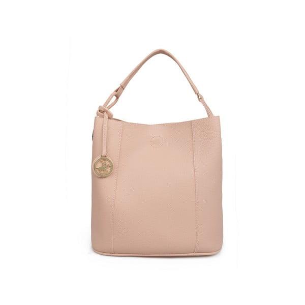 Pudrově růžová kabelka Beverly Hills Polo Club Rita