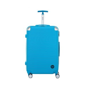 Tyrkysově modrý cestovní kufr na kolečkách Teddy Bear Monica, 107 l