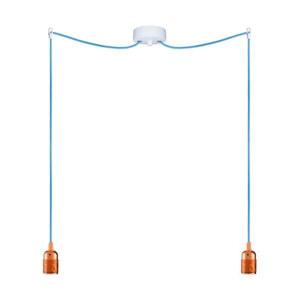Dva závěsné kabely Uno, měděná/modrá