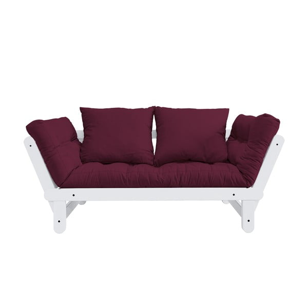 Sofa rozkładana Karup Design Beat White/Bordeaux
