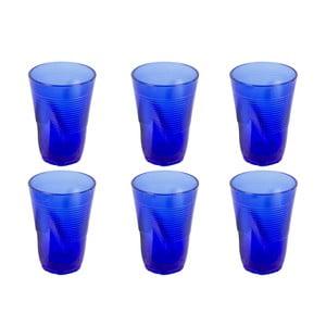 Sada 6 modrých sklenic Kaleidos, 340ml
