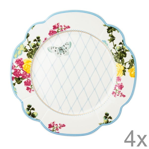 Porcelánový talíř  Florence od Lisbeth Dahl, 24 cm, 4 ks