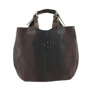 Kožená kabelka Luxury Italia, hnědá