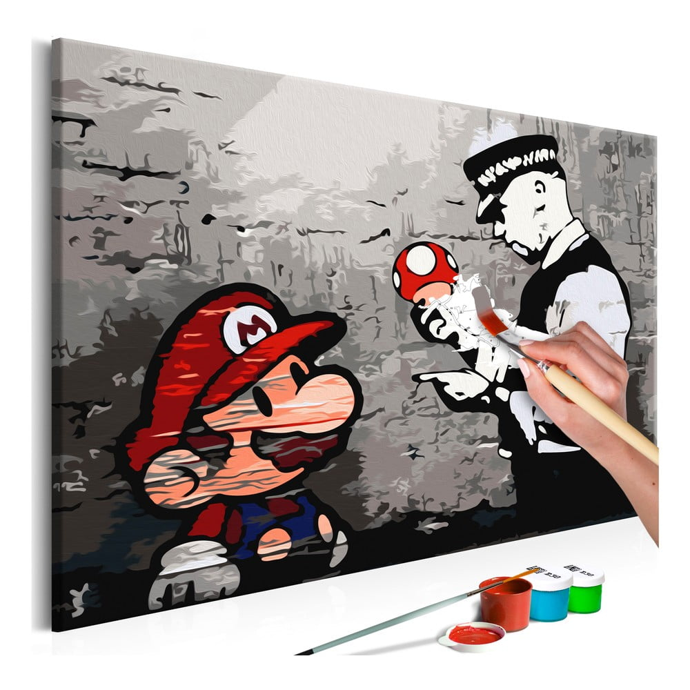 DIY set na tvorbu vlastního obrazu na plátně Artgeist Mario, 60 x 40 cm