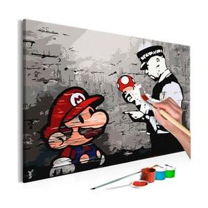 Set de pânze, vopsele și perii DIY Artgeist Mario, 60 x 40 cm